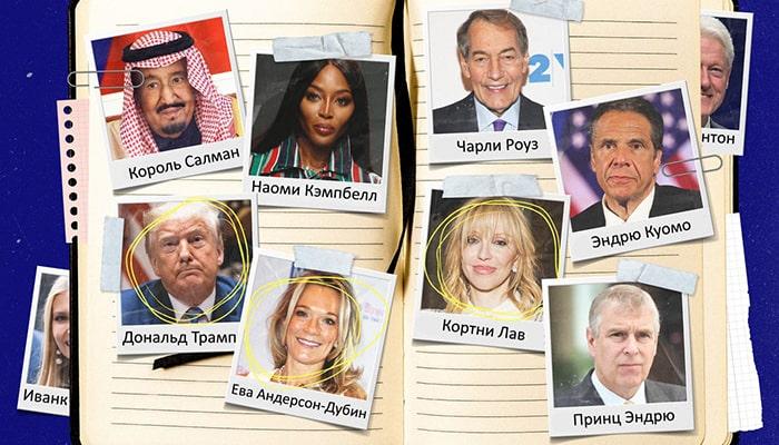 Взгляните на черную книгу пресловутого Джеффри Эпштейна, в которой находится более 1500 человек. Среди них знаменитости и известные политики