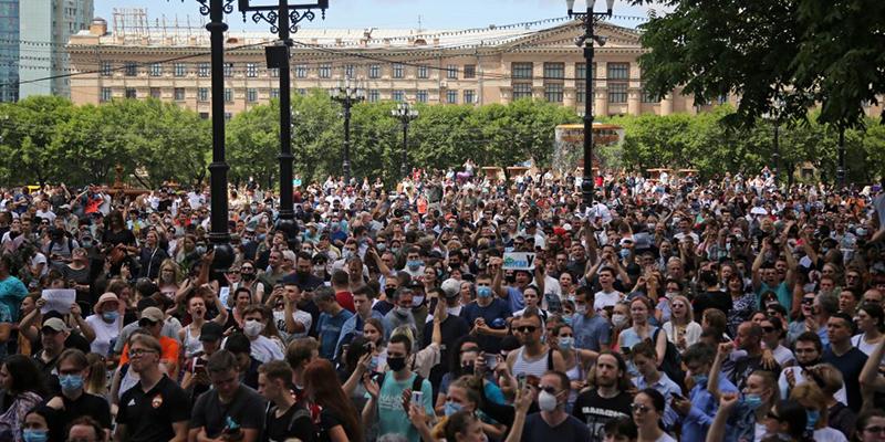 В Хабаровске прошел самый большой антиправительственный протест за последнее десятилетие