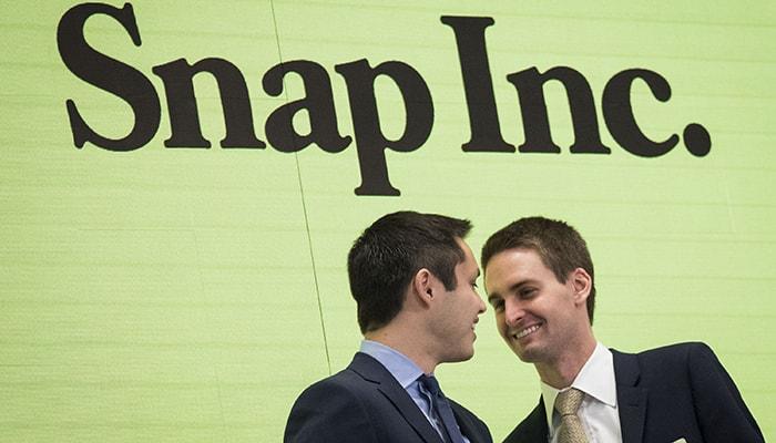 Акции Snapchat взлетели на 25%, после обнародования их отчета, а соучредители прибавили 2,7 млрд долларов к своему капиталу