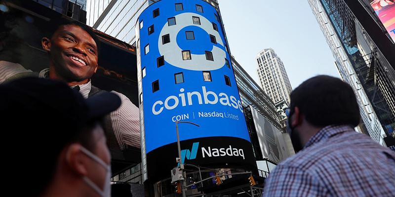 Акции Coinbase подорожали более чем на 50% в первый день торгов, стоимость компании превысила 100 млрд долларов